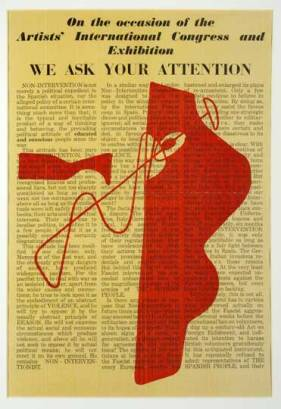 Design for 'We Ask Your Attention', Henry Moore. Published by the Farleigh Press, 1938.